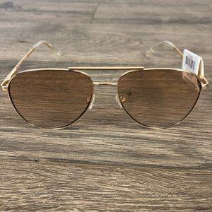 LE SPECS Road Trip Gold Sunglasses